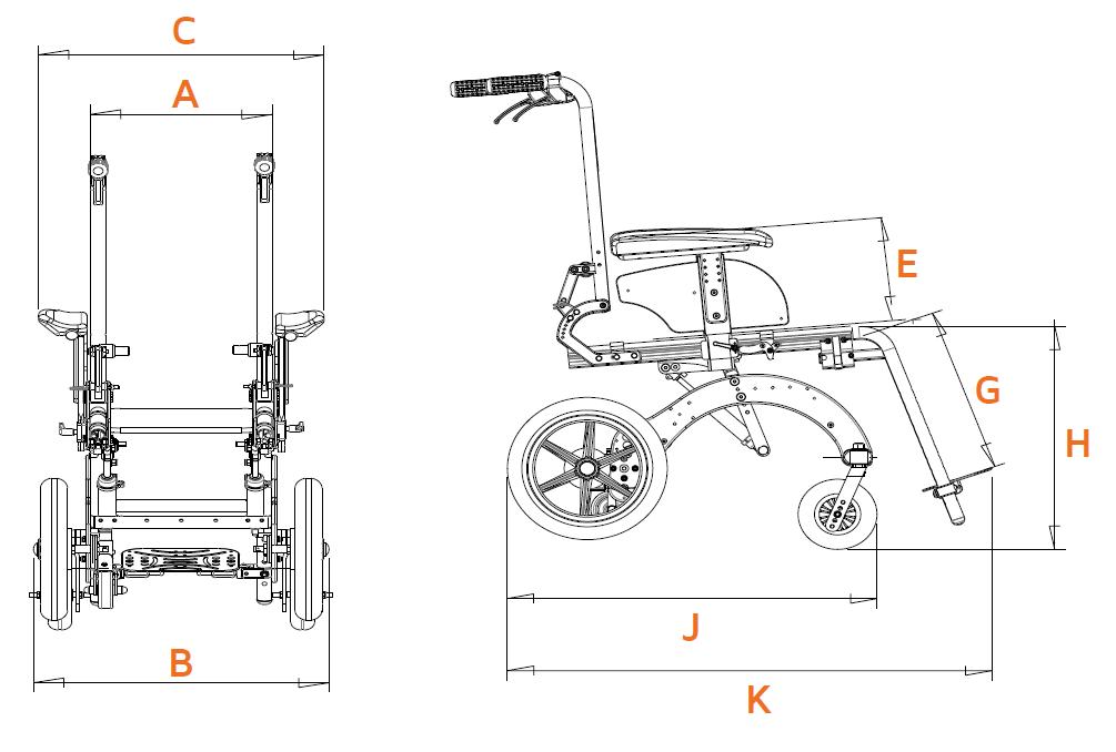 Cadeira de rodas LEVIA
