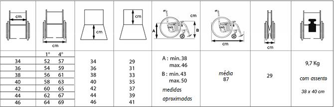 ALHENA Medidas | Mobilitec - Offcarr