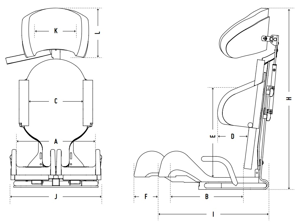 CAR SEAT PRO Medidas Anatomic Sitt | Mobilitec