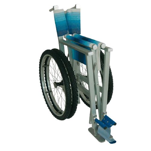 Cadeira de rodas para praia Solemare encartada